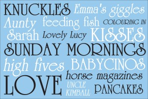 personalised word canvas