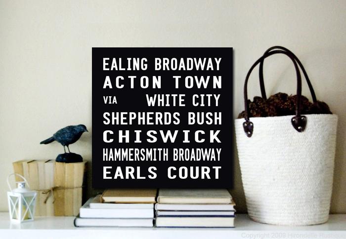 Ealing Broadway Bus Scroll | Ealing Broadway Square Bus Scroll