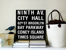 Ninth Avenue Bus Scroll
