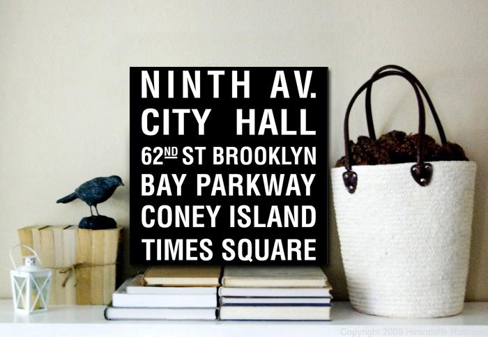 Ninth Avenue Bus Scroll | Ninth Avenue, NY Square Subway Scroll