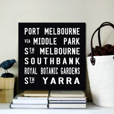 Port Melbourne Bus Banner Art | Port Melbourne Square Scroll