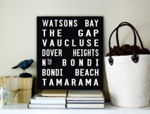 Watsons Bay Square Word Art