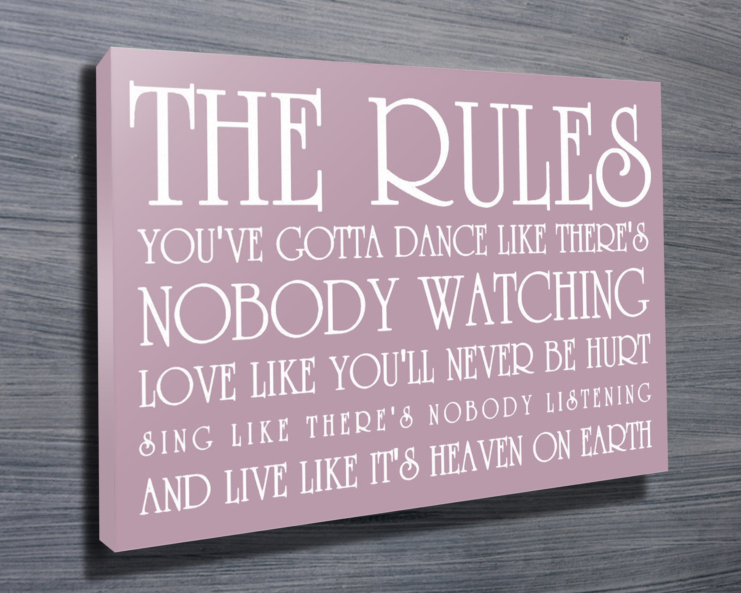Personalised Engagement Gifts | Life's Rules – Pink
