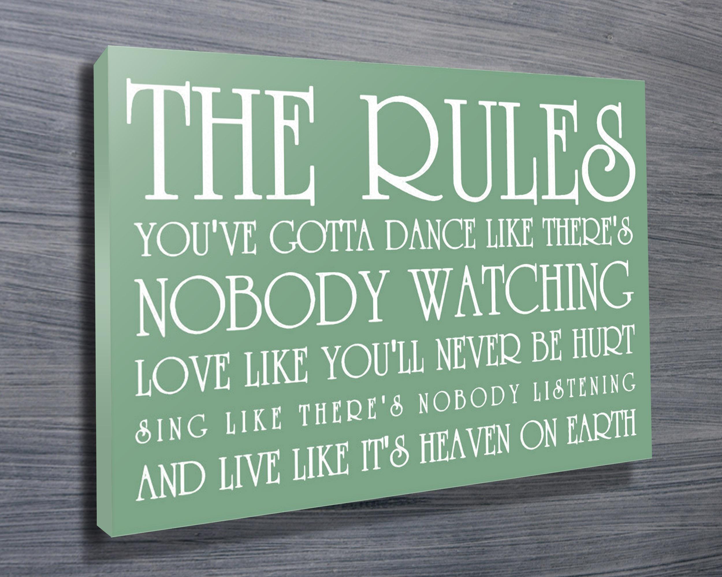 Unique Anniversary Presents | Life's Rules – Green
