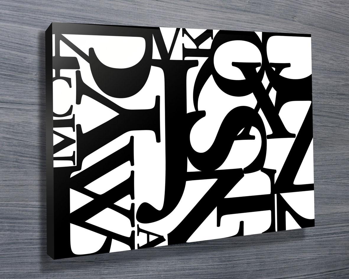 Customised Canvas Word Art | Jumble Letters 4