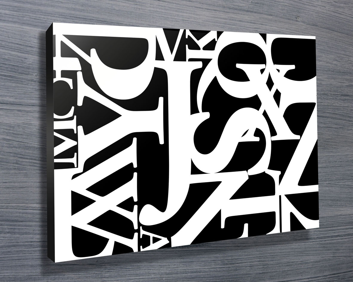 Typographic Art Prints Online | Jumble Letters 5