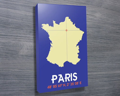 Paris Mothers Day Canvas Print | Paris – Dark Blue