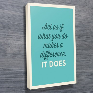 Motivational Framed Art | Act As If