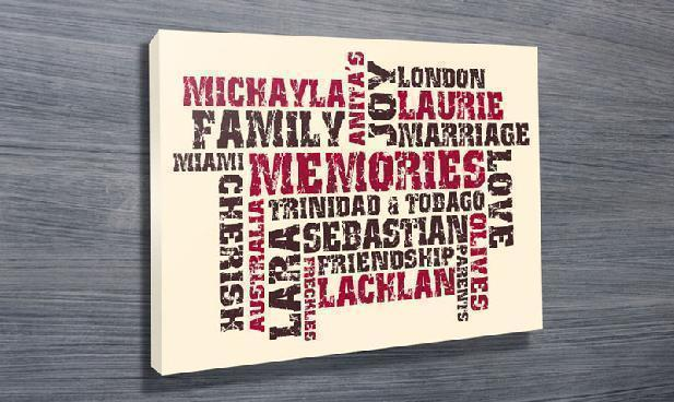 Personalised Words on Canvas