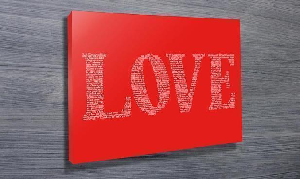 Love Words on Canvas Art