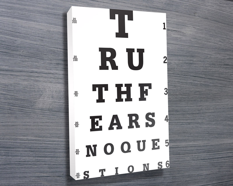 | Truth Fears No Questions, Eye Chart