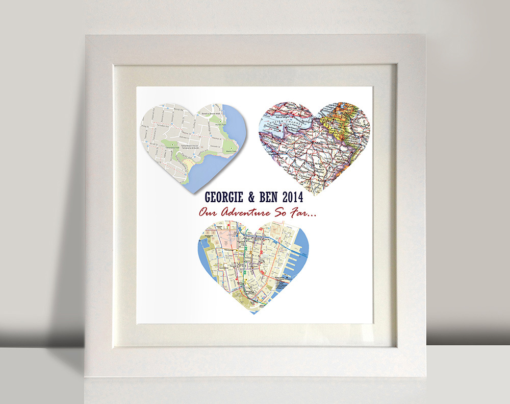 Beautiful Personalised Map Gift Ideas | Custom Wall Art Sydney