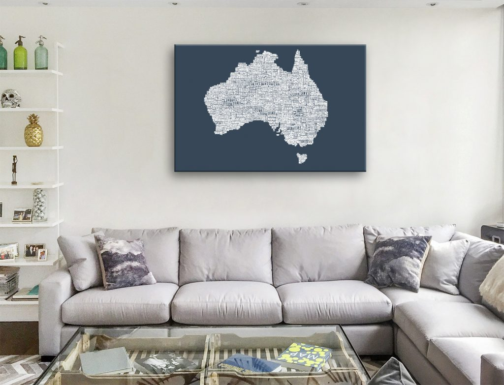Australia Type Canvas Artwork