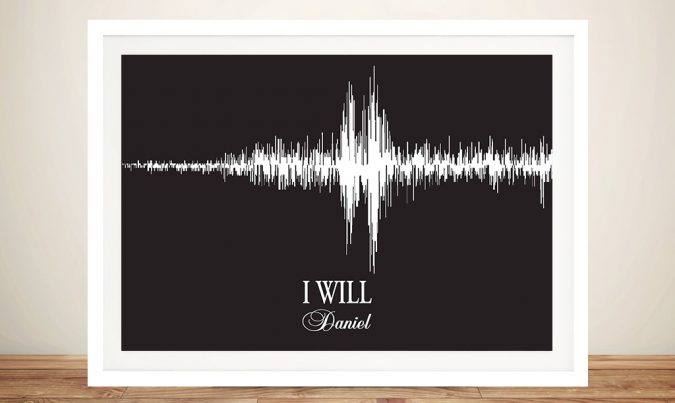 Wedding vowels Personalised Soundwave Art