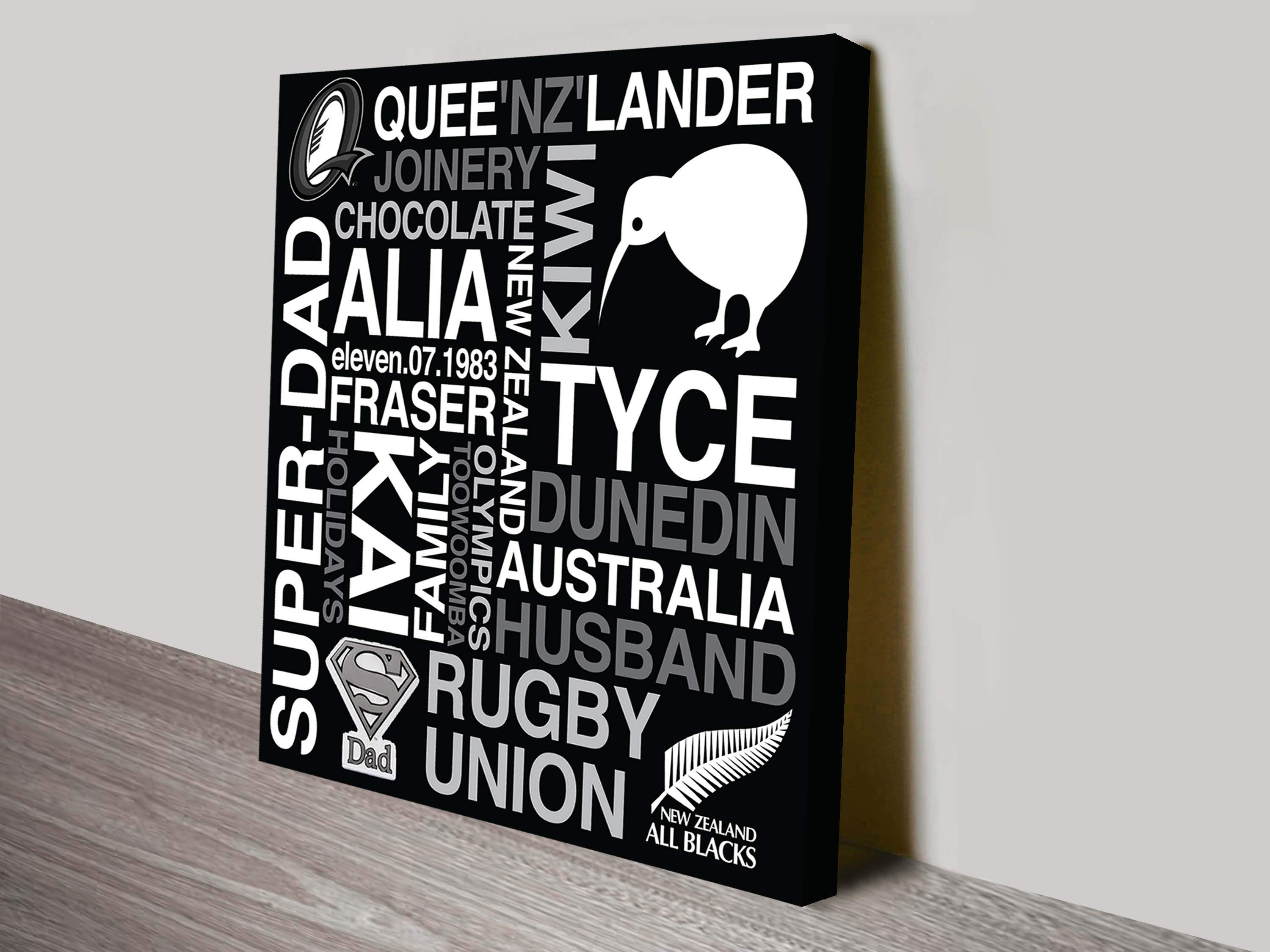 Unusual Wedding Gifts Australia: Personalised Canvas Word Art And Wedding Wall Art Gift Ideas