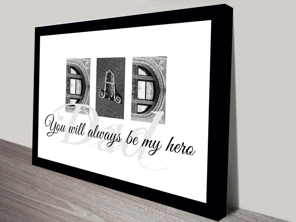 BAW Letter Art Fathers Day Gift Ideas