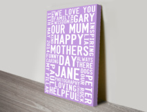 Mothers Day Personalised Art Present Ideas