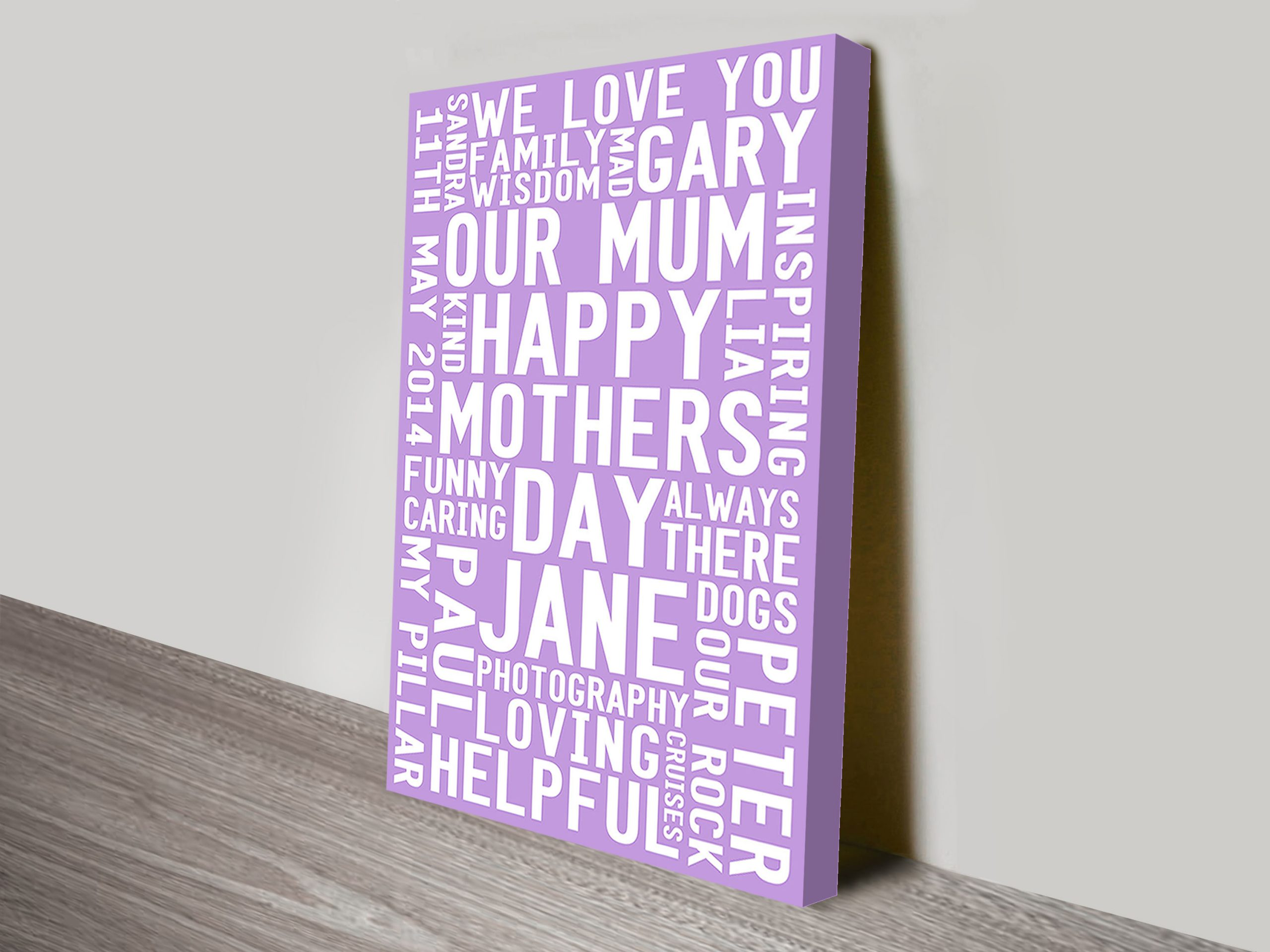 Mothers Day Personalised Art Present Ideas | Mothers Day Art – Style 2