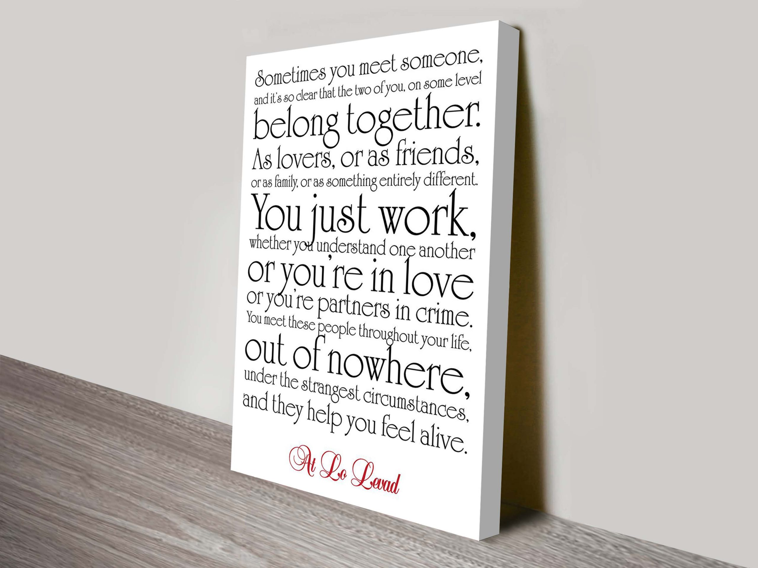 Quotes Canvas Wall Art | Poems & Rhymes Style 7