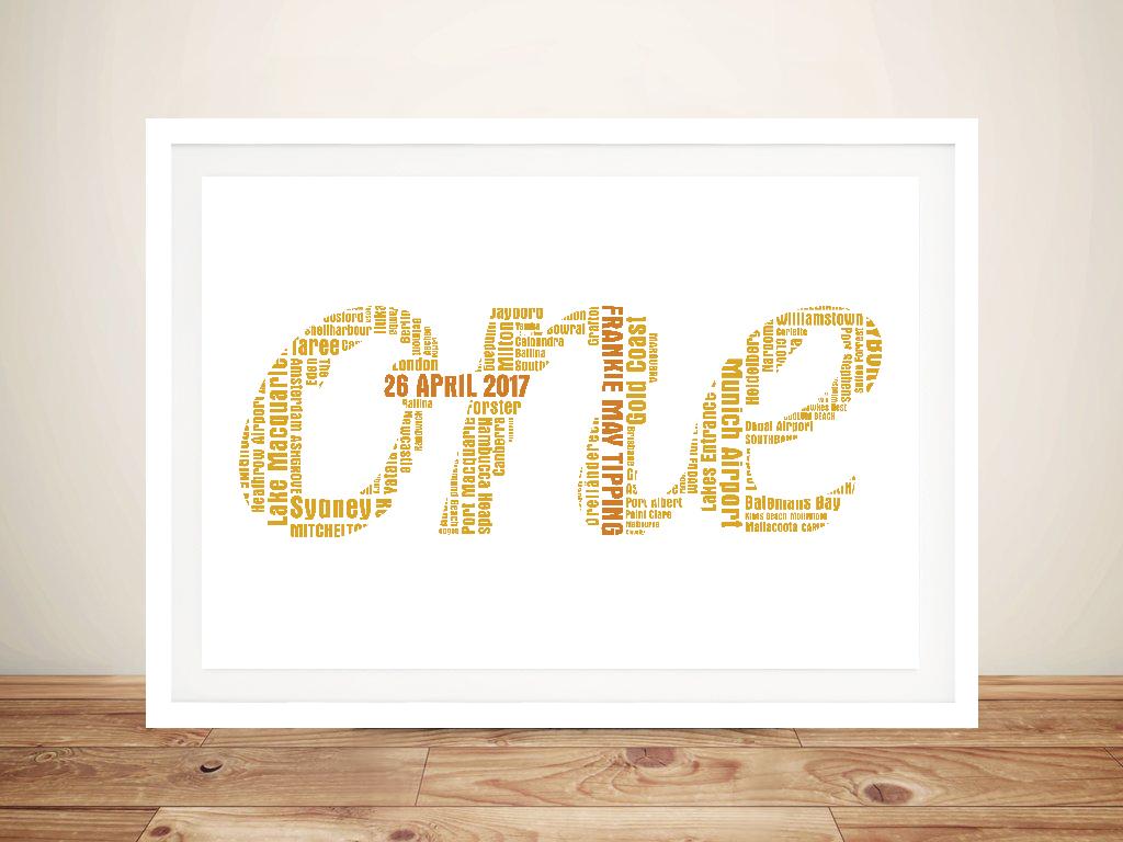 Bespoke Word Outline Framed Wall Art | Bespoke Word Outline