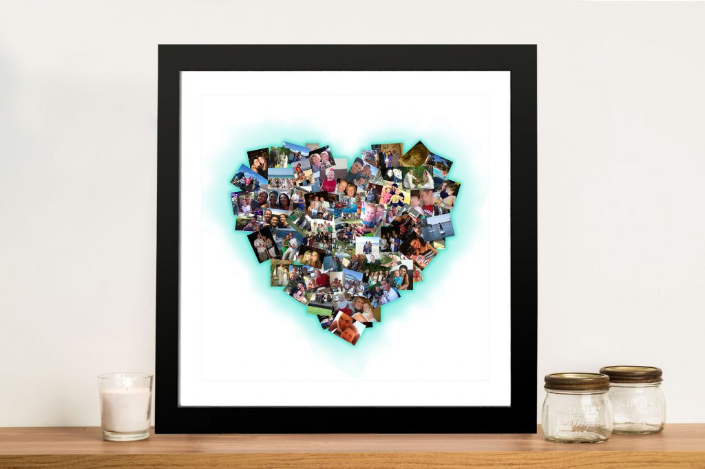 Heart Shaped Photo Collage Wall Art