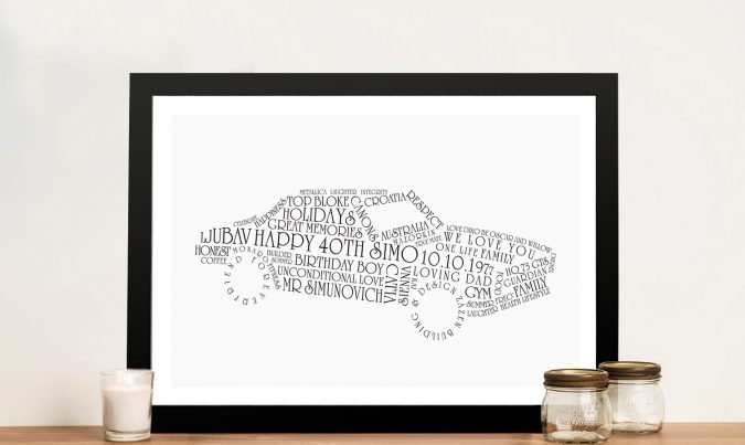 Car Outline personalised Wall Art