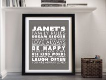Buy a House Rules Wall Art Print