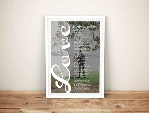 Custom Photo Word Cloud Art Design