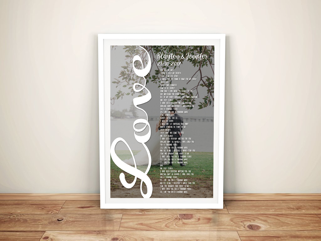 Custom Photo Word Cloud Art Design | Love is