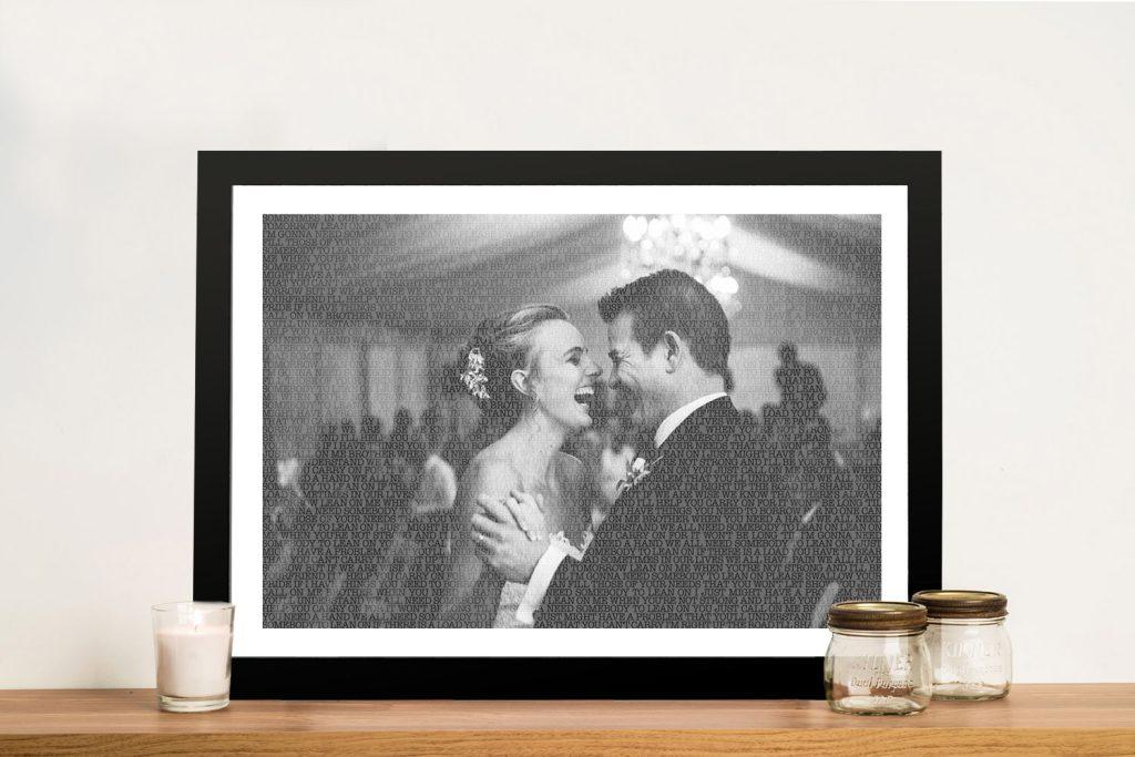 A Love Story Custom Photo Word Art