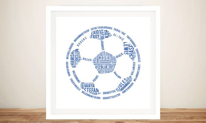 Custom Soccer Ball Framed Wall Art