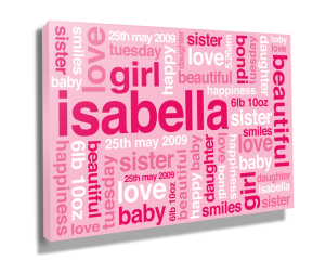 Baby Girl Canvas-sm