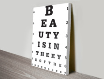 Eye Test Canvas Art