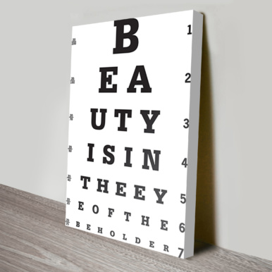 Eye Test Canvas Art | Beauty Is On The Eye Of The Beholder