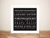 Bespoke House Rules Wall Art Gift Ideas AU