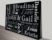 Classic Inspiration Personalised Artwork on Canvas