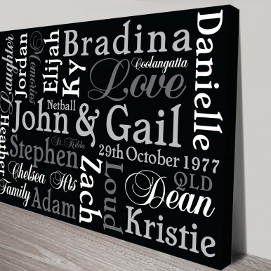 Classic Inspiration Personalised Artwork on Canvas | Classic Inspiration