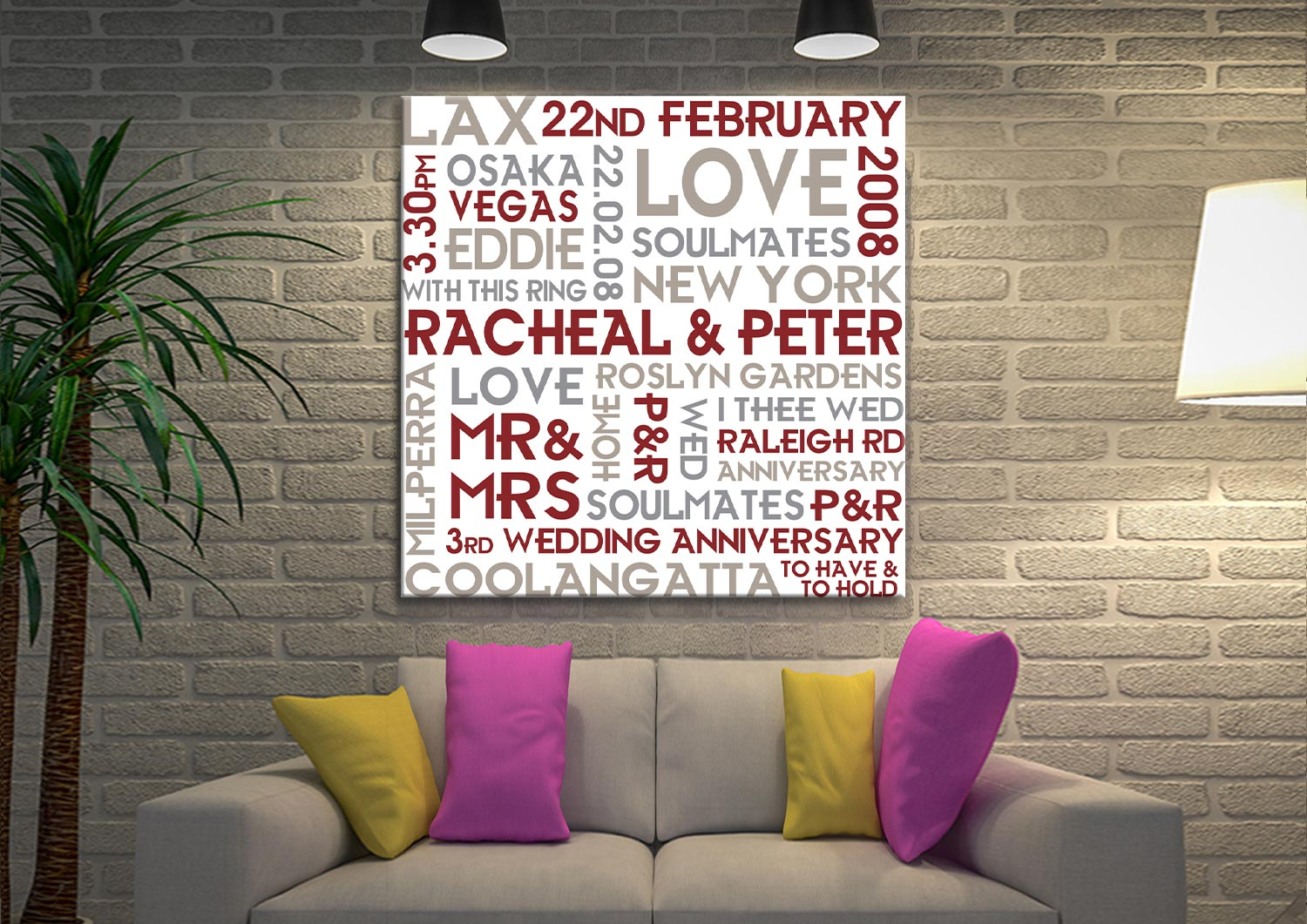 Buy Couples Canvas Print the Perfect Valentines Gift | Couples Canvas