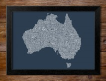 Framed Type Map Artwork