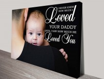 Dad Personalised Photo Canvas