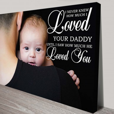 Dad Personalised Photo Canvas | Dad Personalised Photo Canvas