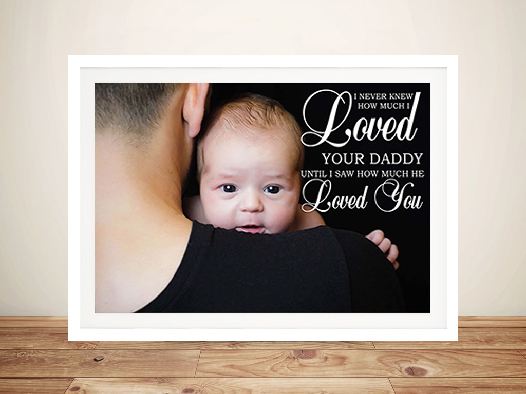 Dad Personalised Photo Framed Wall Art | Dad Personalised Photo Canvas