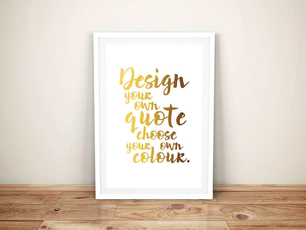Customised White Framed Word Art