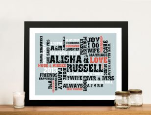 Word Canvas Art Personalised Gift Idea