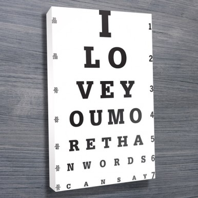 Eye Chart Art Print | I Love You More Than Words Can Say