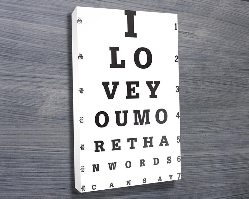 Eye Chart Art Print | I Love You More Than Words Can Say