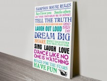 Family House Rules Art
