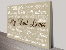 Fathers Day Gift Ideas Personalised Artwork