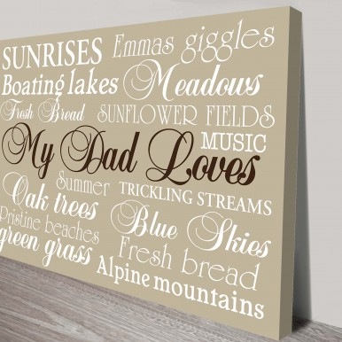 Fathers Day Gift Ideas Personalised Artwork | My Dad Loves…