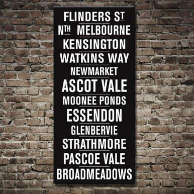 Flinders Street Vintage Tram Scroll   Flinders Street Vintage